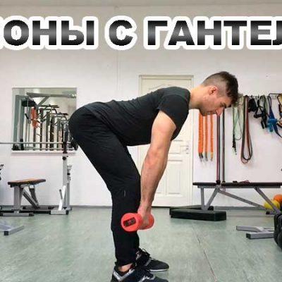 Наклоны с гантелями видео урок. Румынская становая тяга с гантелями – техника упражнения.