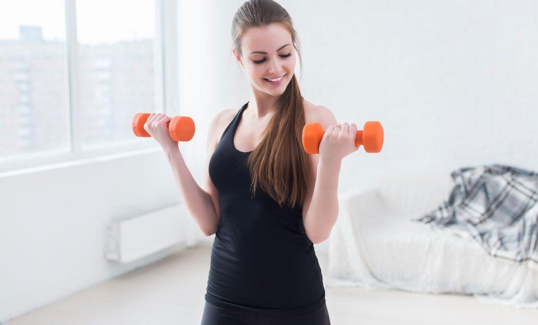 Тренировки и упражнения с использованием гантелей!
